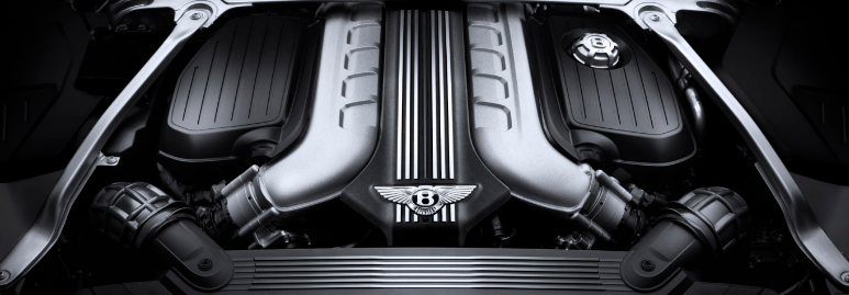 Bentley Continental GT _ engine